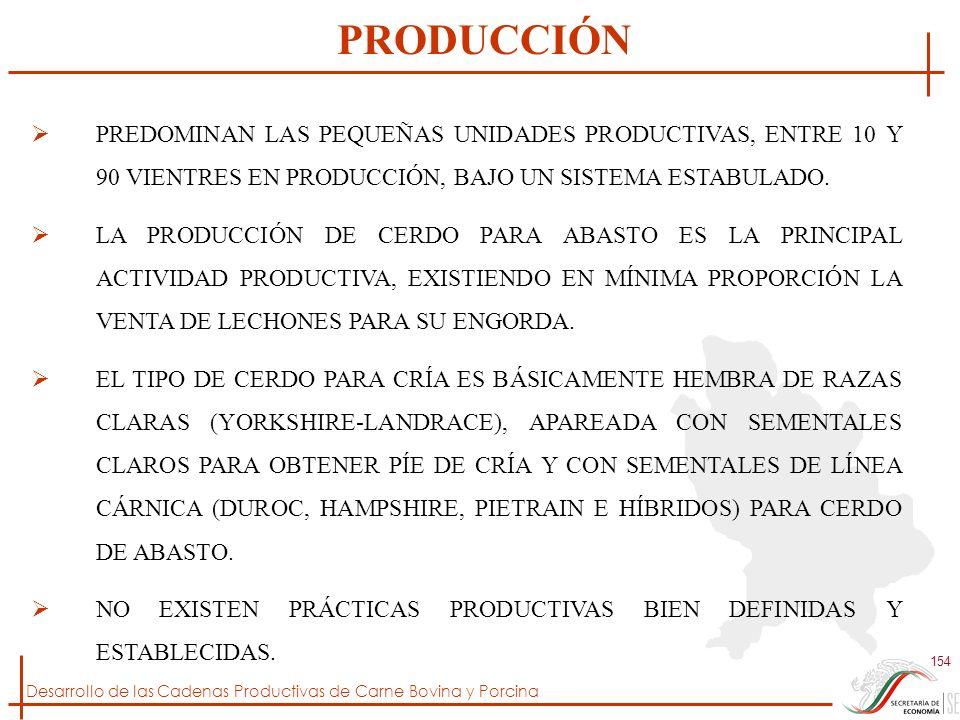PRODUCCIÓN PREDOMINAN LAS PEQUEÑAS UNIDADES PRODUCTIVAS, ENTRE 10 Y 90 VIENTRES EN PRODUCCIÓN, BAJO UN SISTEMA ESTABULADO.