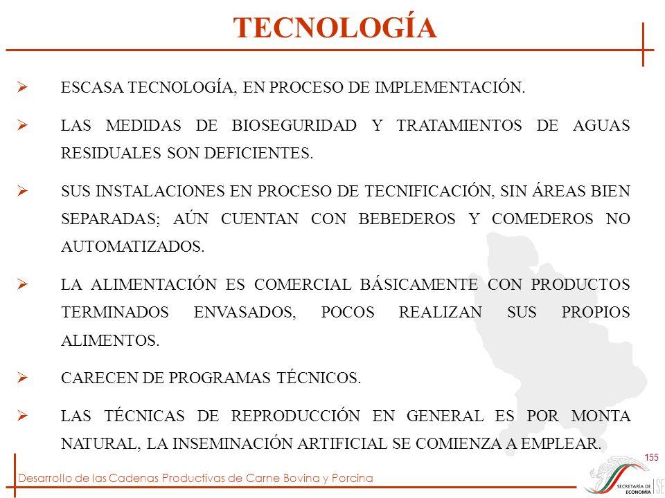 TECNOLOGÍA ESCASA TECNOLOGÍA, EN PROCESO DE IMPLEMENTACIÓN.