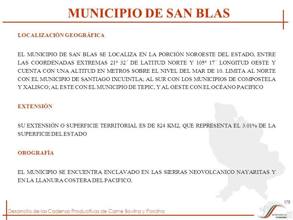 MUNICIPIO DE SAN BLAS LOCALIZACIÓN GEOGRÁFICA