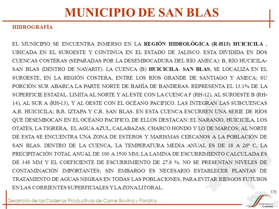 MUNICIPIO DE SAN BLAS HIDROGRAFÍA