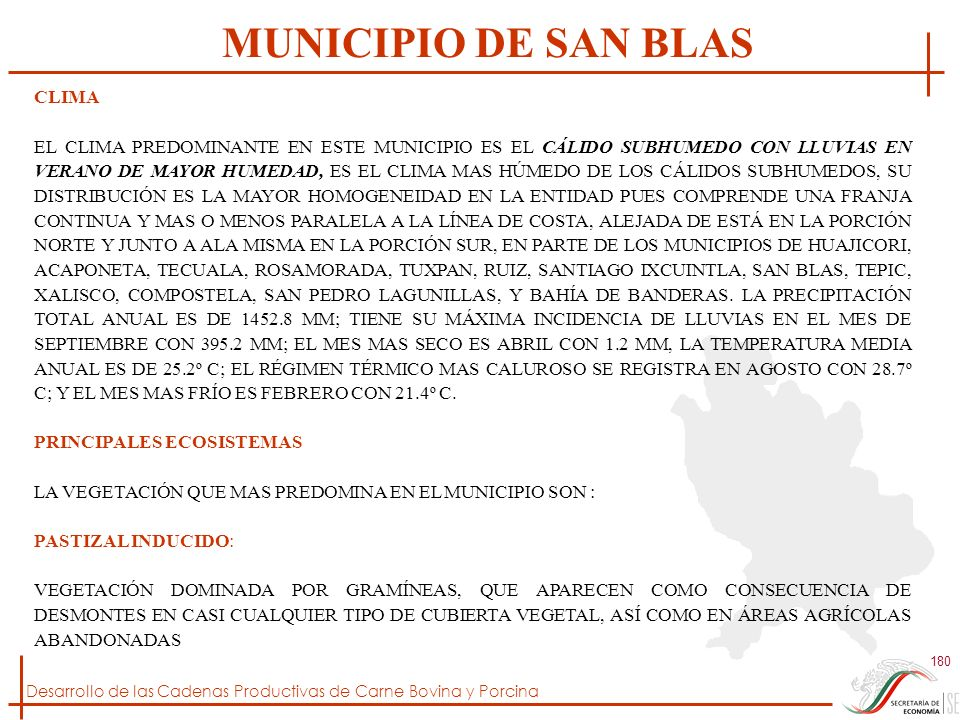 MUNICIPIO DE SAN BLAS CLIMA