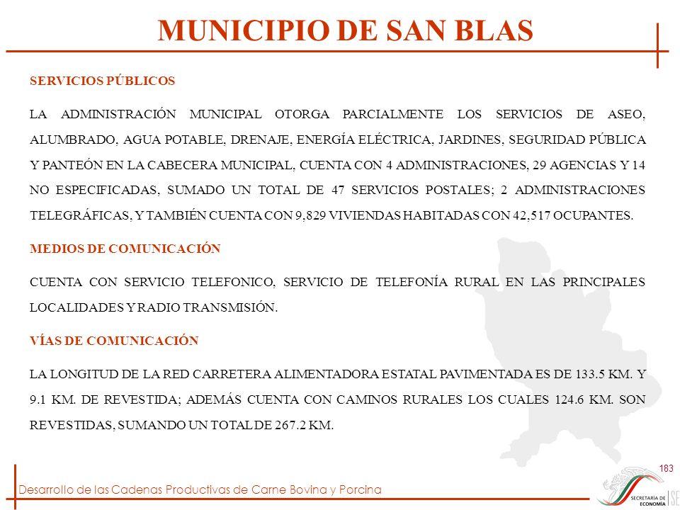 MUNICIPIO DE SAN BLAS SERVICIOS PÚBLICOS