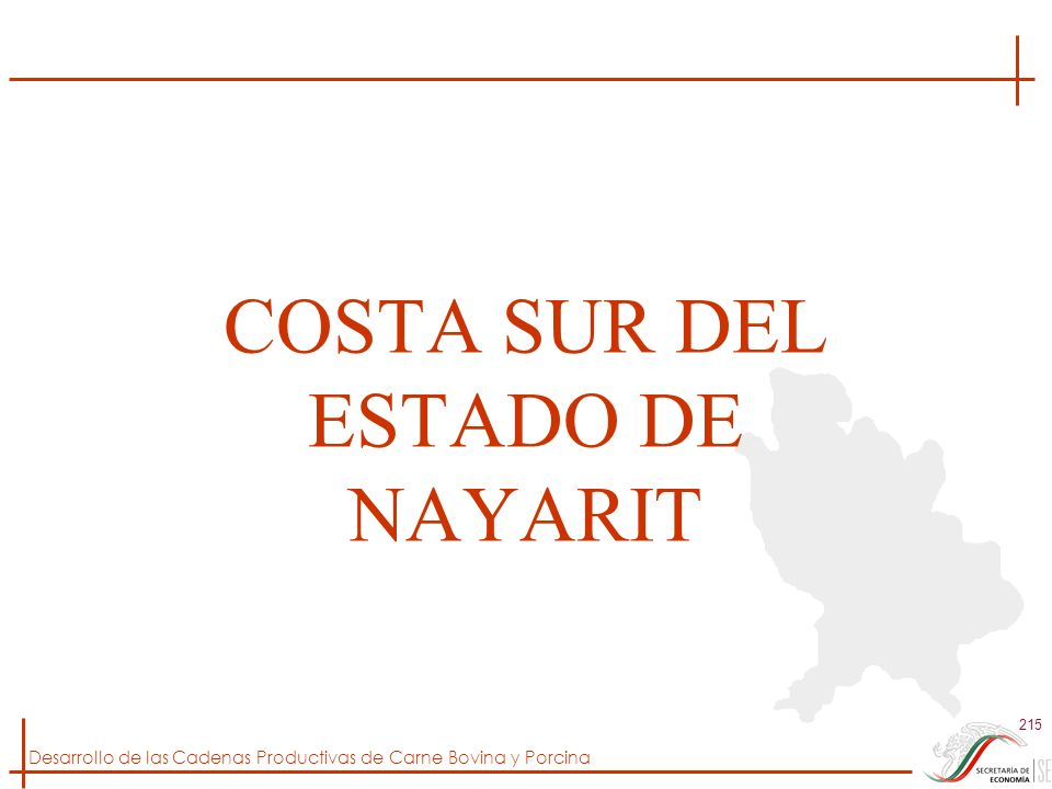 COSTA SUR DEL ESTADO DE NAYARIT