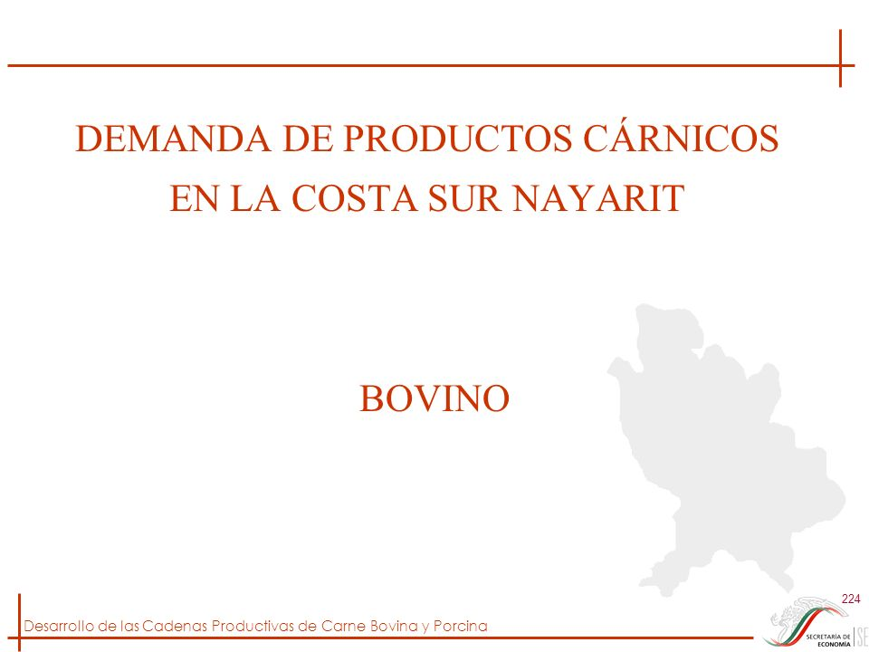 DEMANDA DE PRODUCTOS CÁRNICOS EN LA COSTA SUR NAYARIT