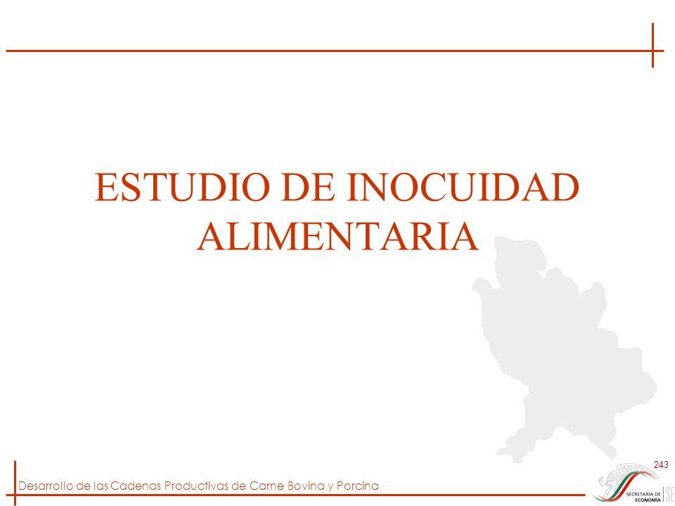 ESTUDIO DE INOCUIDAD ALIMENTARIA