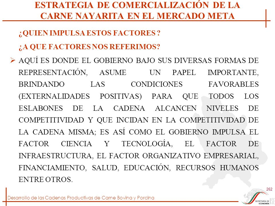 ESTRATEGIA DE COMERCIALIZACIÓN DE LA CARNE NAYARITA EN EL MERCADO META