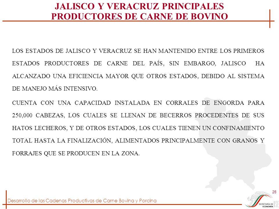 JALISCO Y VERACRUZ PRINCIPALES PRODUCTORES DE CARNE DE BOVINO