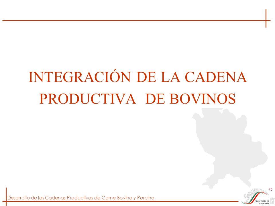 INTEGRACIÓN DE LA CADENA PRODUCTIVA DE BOVINOS