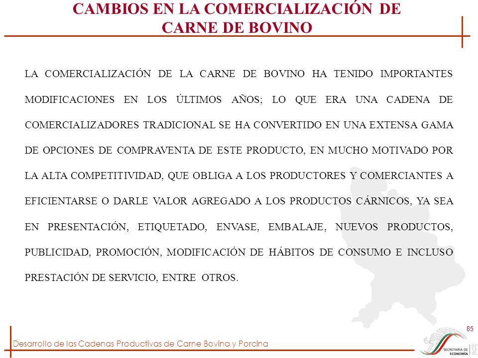 CAMBIOS EN LA COMERCIALIZACIÓN DE CARNE DE BOVINO