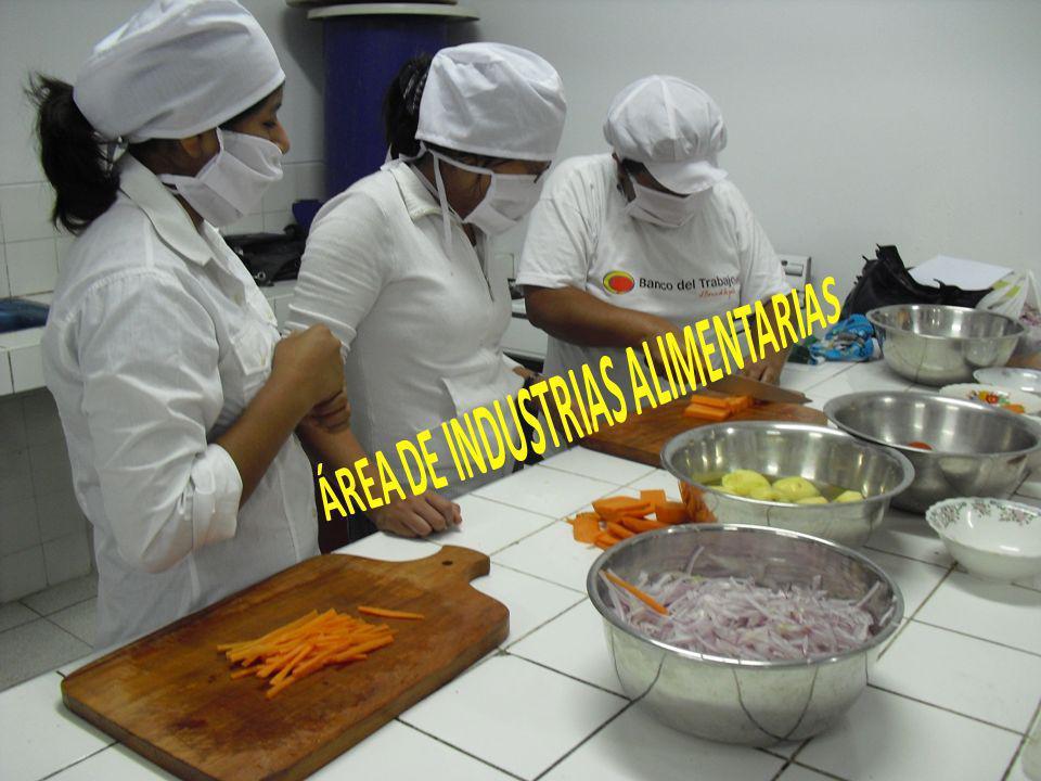 ÁREA DE INDUSTRIAS ALIMENTARIAS