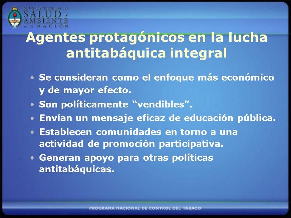 Agentes protagónicos en la lucha antitabáquica integral