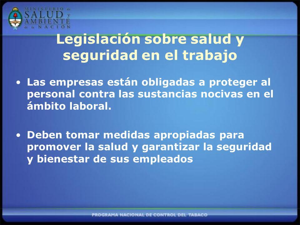 Legislación sobre salud y seguridad en el trabajo