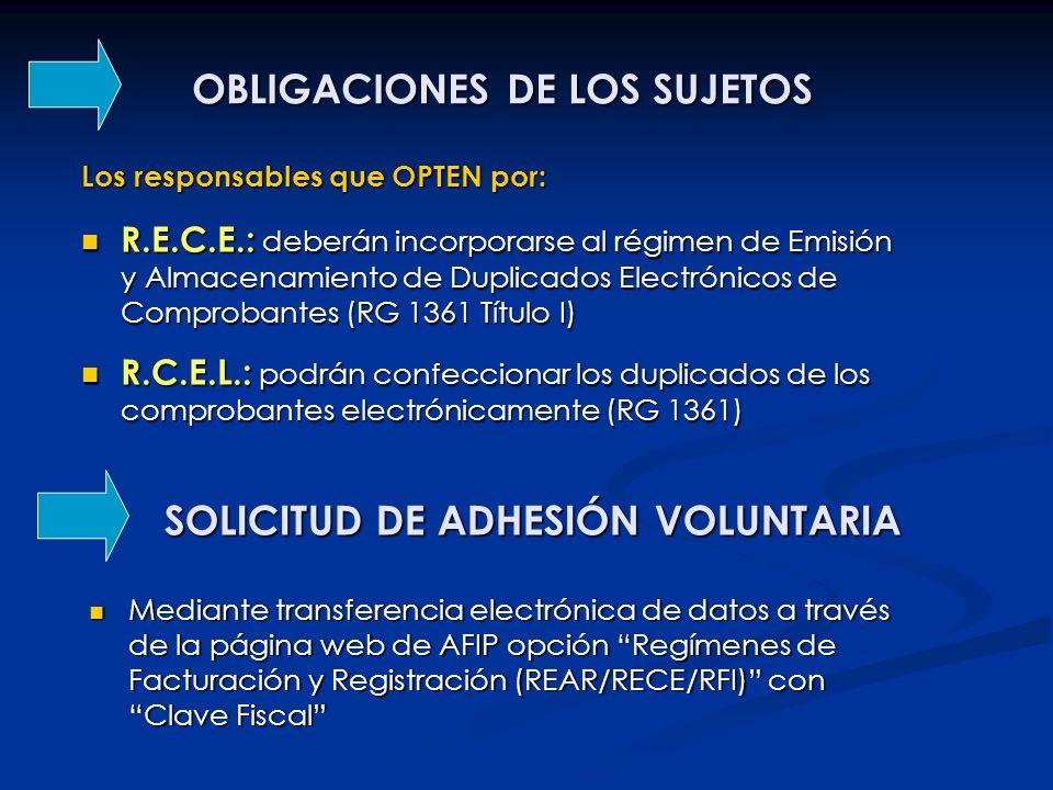 OBLIGACIONES DE LOS SUJETOS