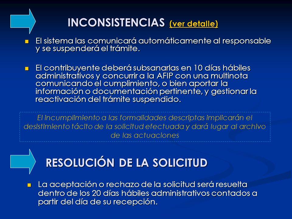 INCONSISTENCIAS (ver detalle)