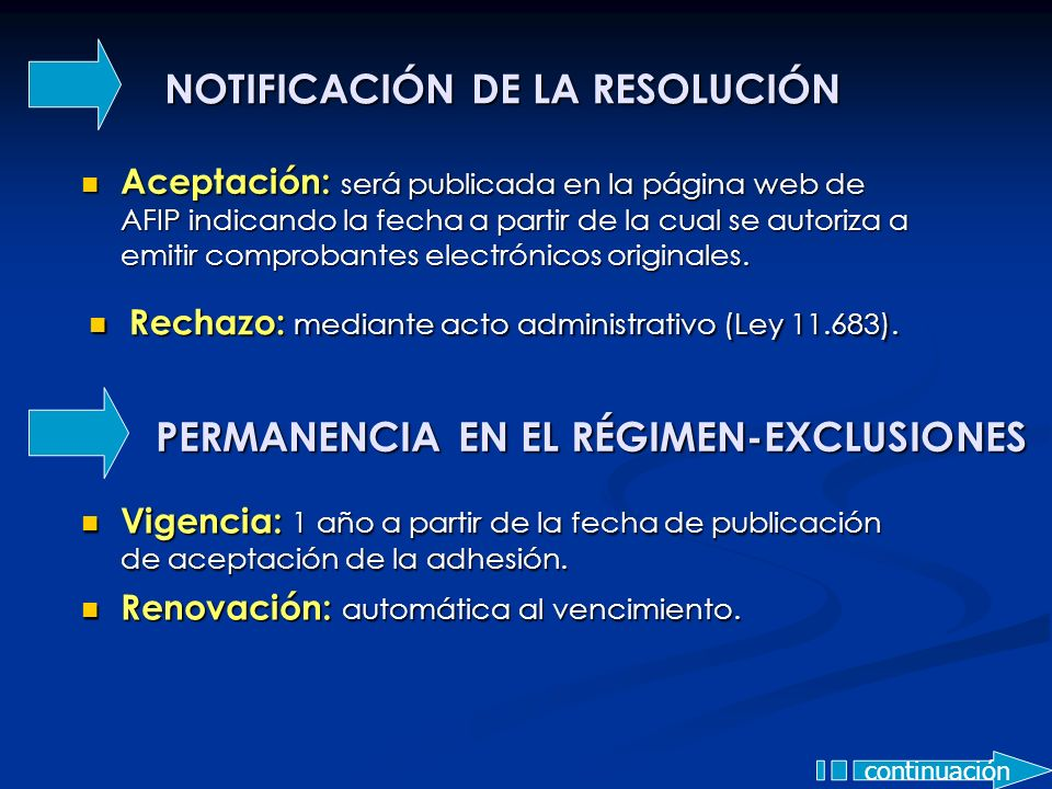 NOTIFICACIÓN DE LA RESOLUCIÓN