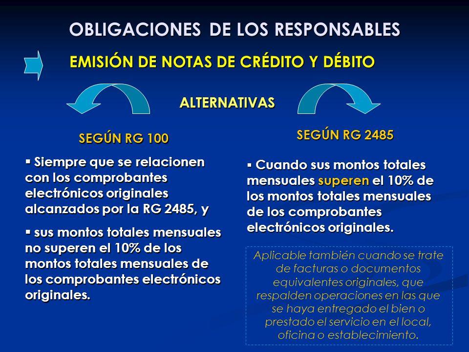 OBLIGACIONES DE LOS RESPONSABLES