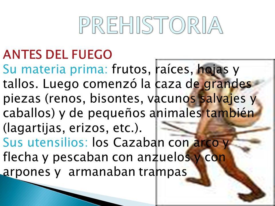 PREHISTORIA ANTES DEL FUEGO