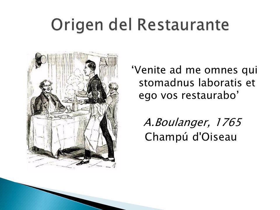 Origen del Restaurante