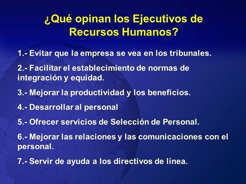 ¿Qué opinan los Ejecutivos de Recursos Humanos