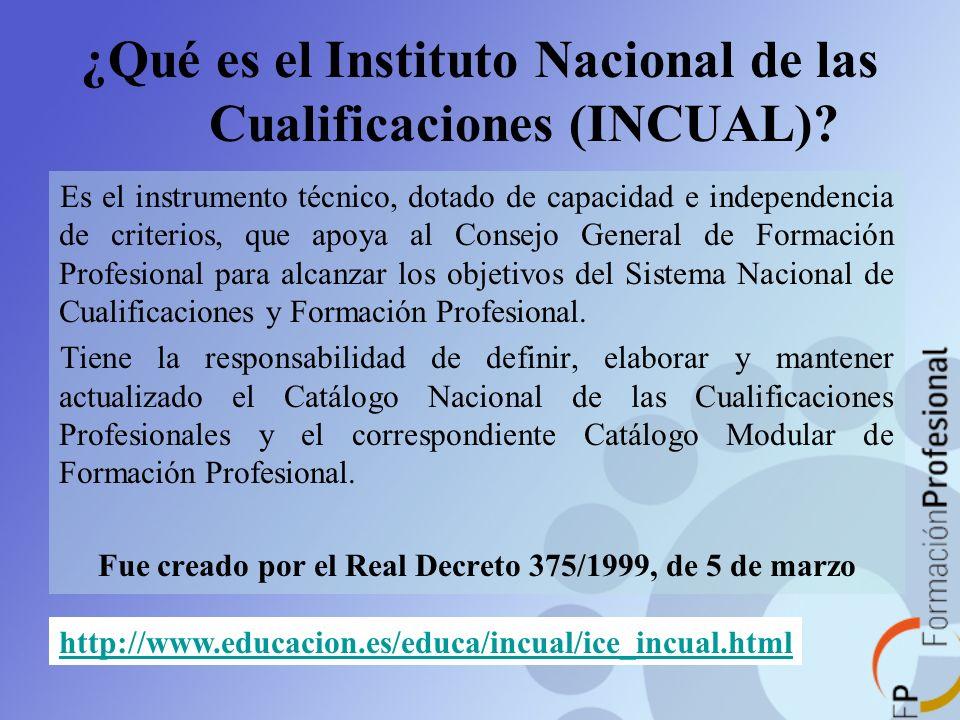 ¿Qué es el Instituto Nacional de las Cualificaciones (INCUAL)