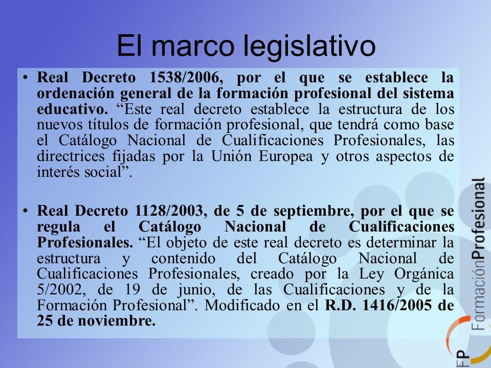 El marco legislativo