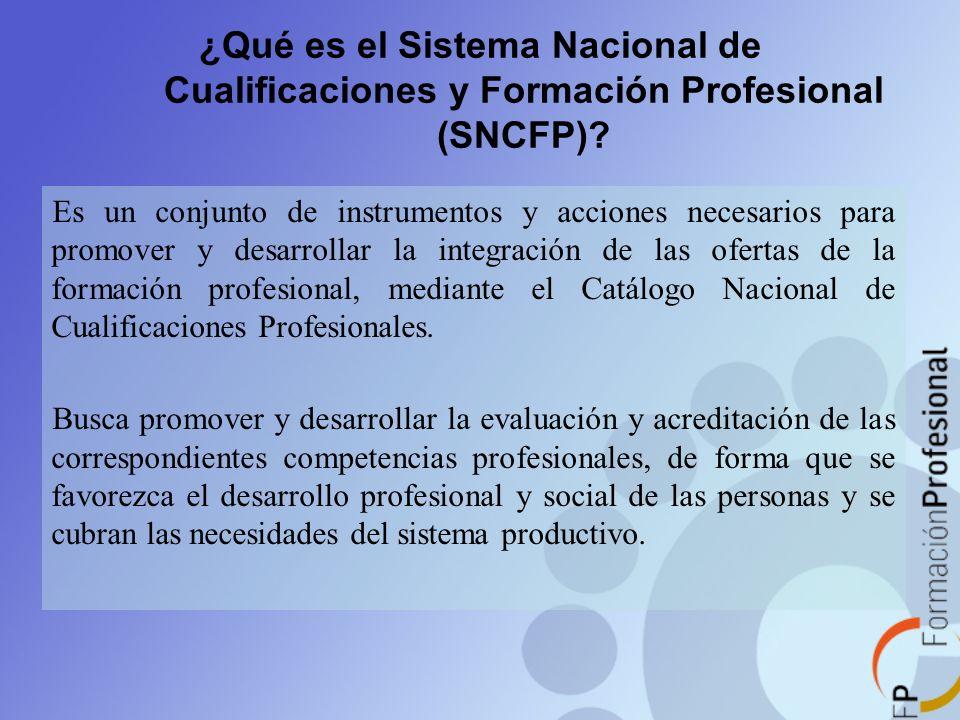 ¿Qué es el Sistema Nacional de Cualificaciones y Formación Profesional (SNCFP)