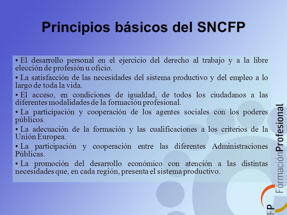 Principios básicos del SNCFP