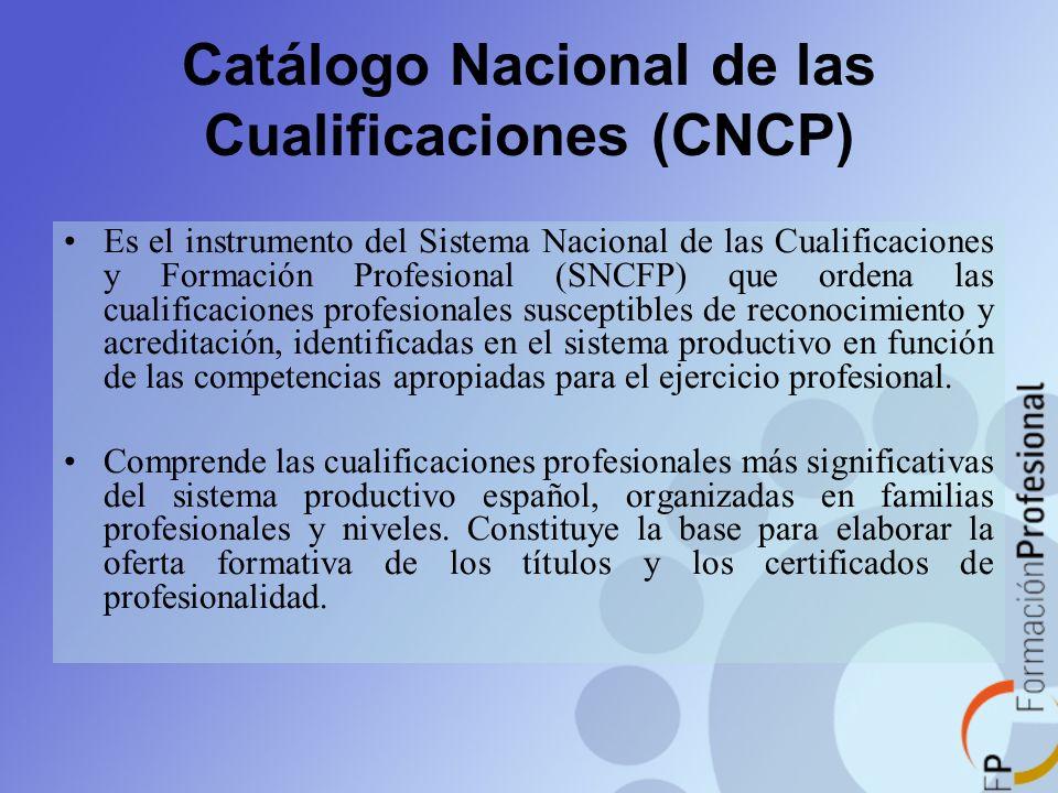 Catálogo Nacional de las Cualificaciones (CNCP)