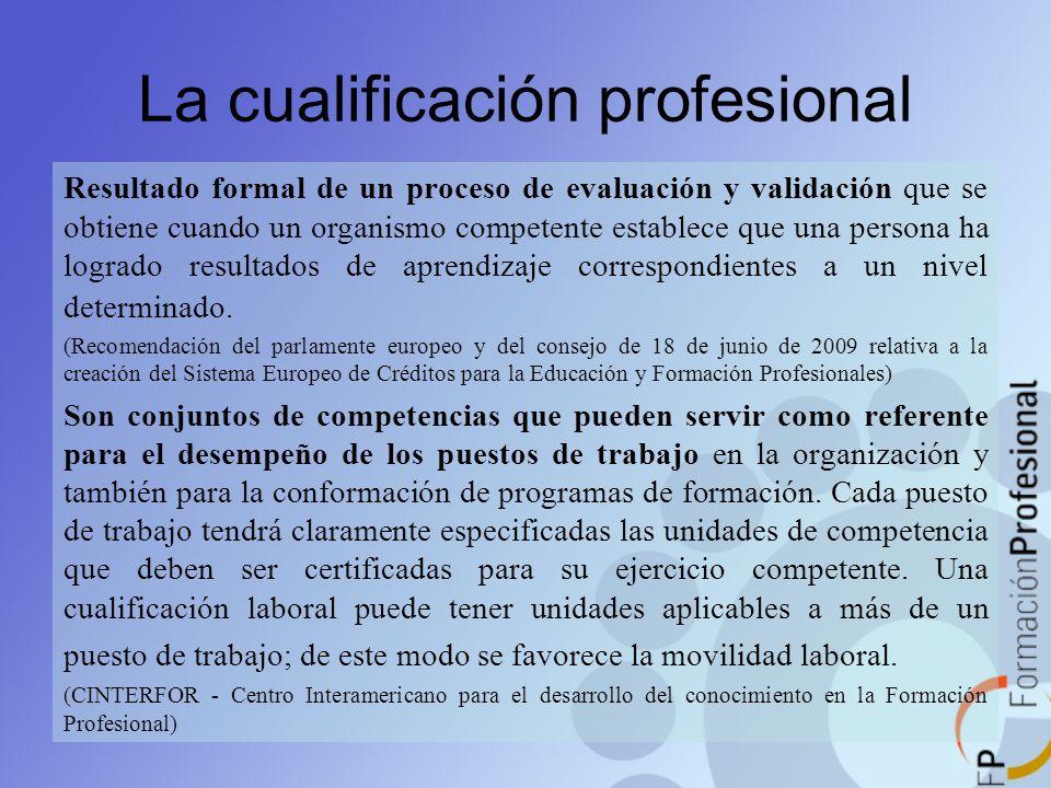 La cualificación profesional