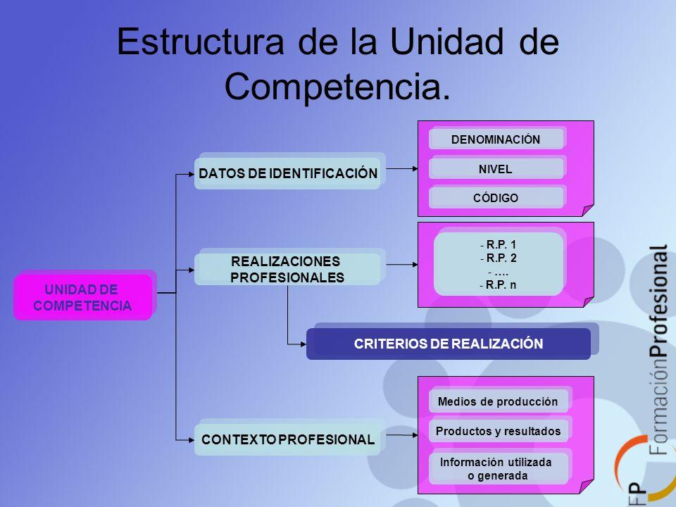 Estructura de la Unidad de Competencia.
