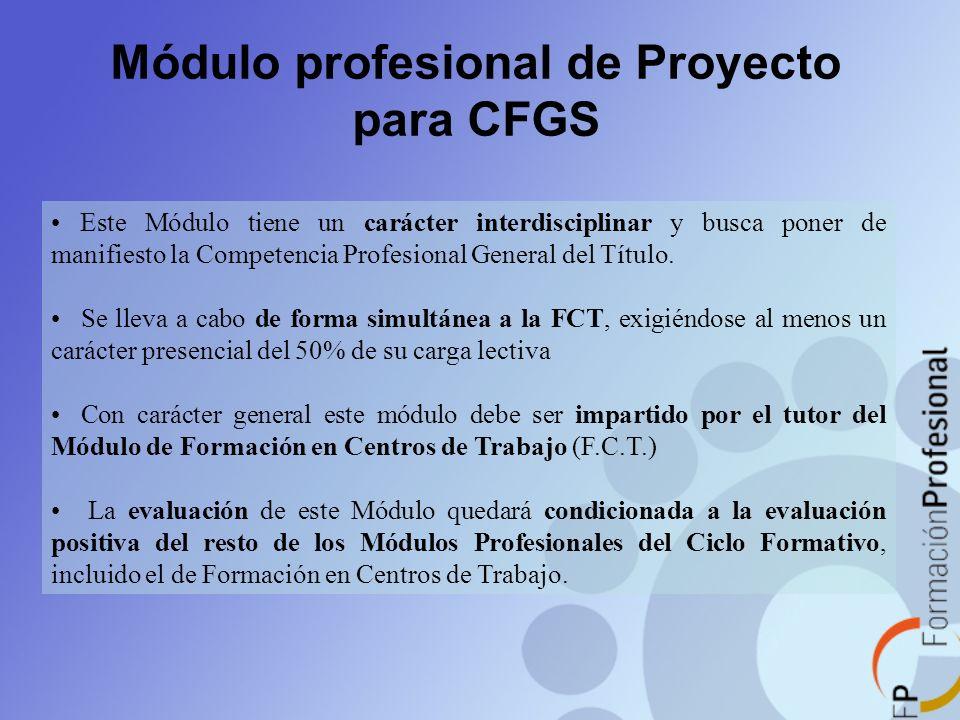 Módulo profesional de Proyecto para CFGS