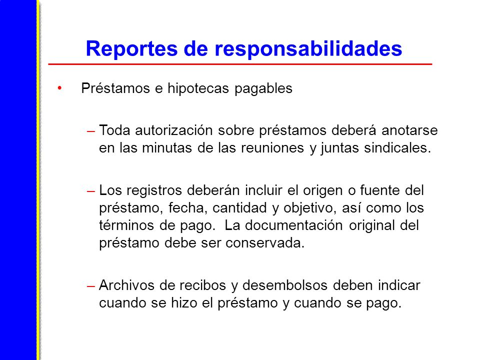 Reportes de responsabilidades