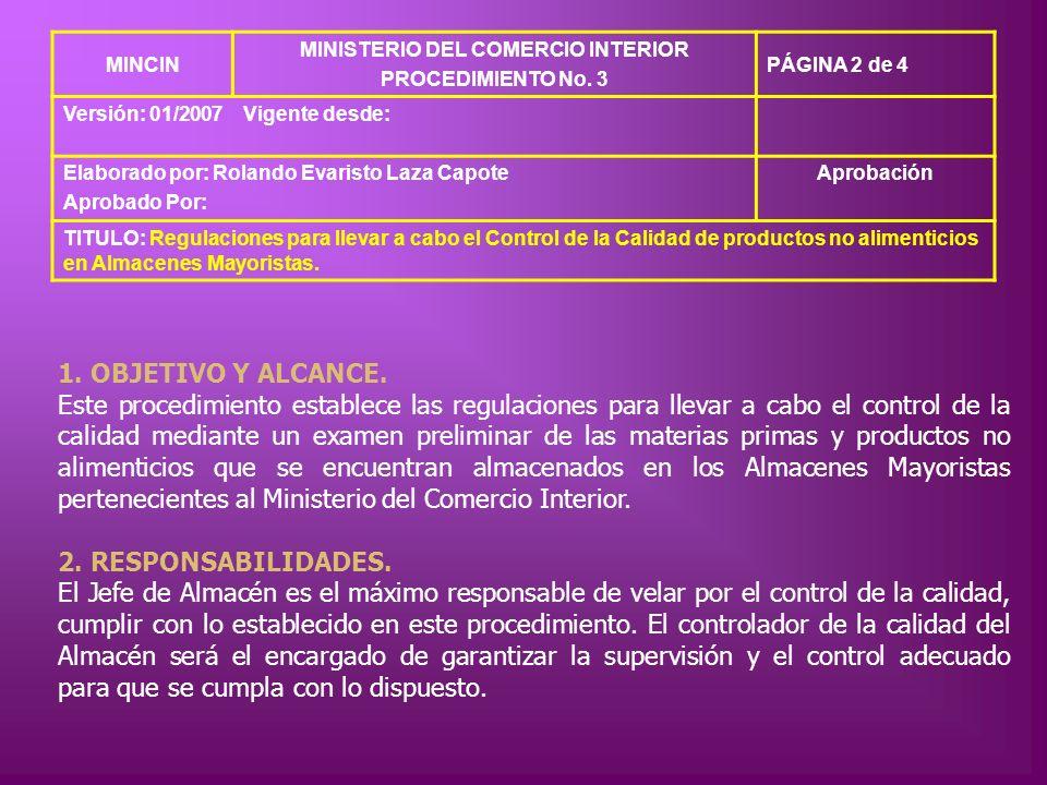 MINISTERIO DEL COMERCIO INTERIOR