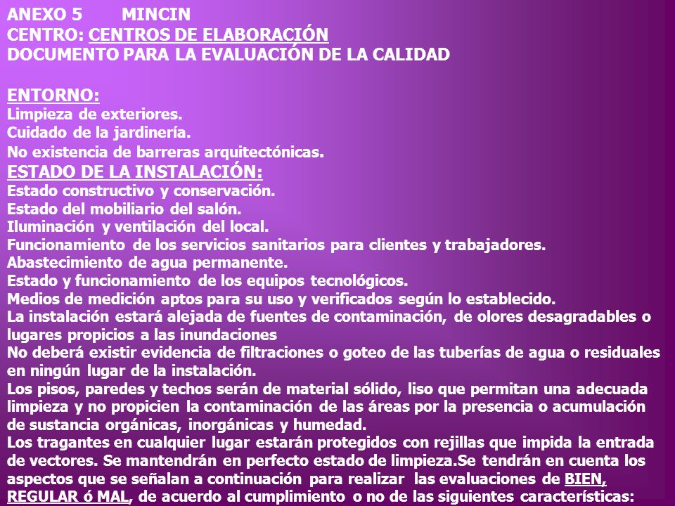 CENTRO: CENTROS DE ELABORACIÓN