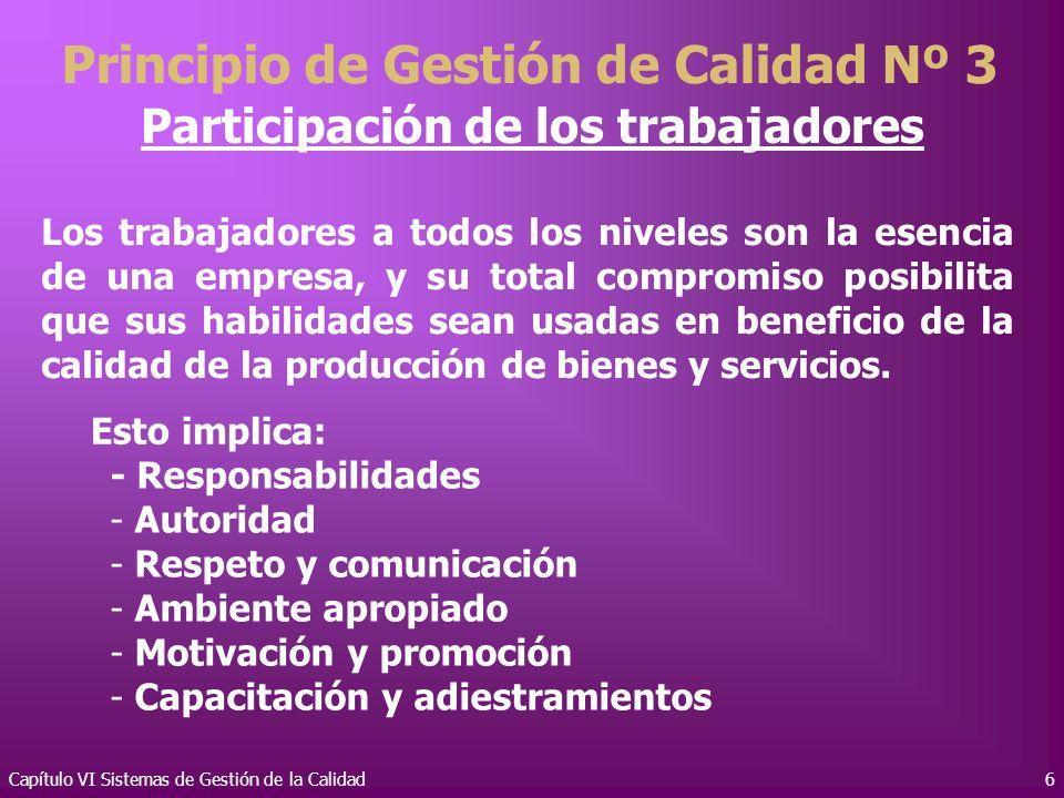 Principio de Gestión de Calidad Nº 3 Participación de los trabajadores