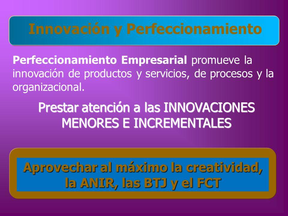 Innovación y Perfeccionamiento
