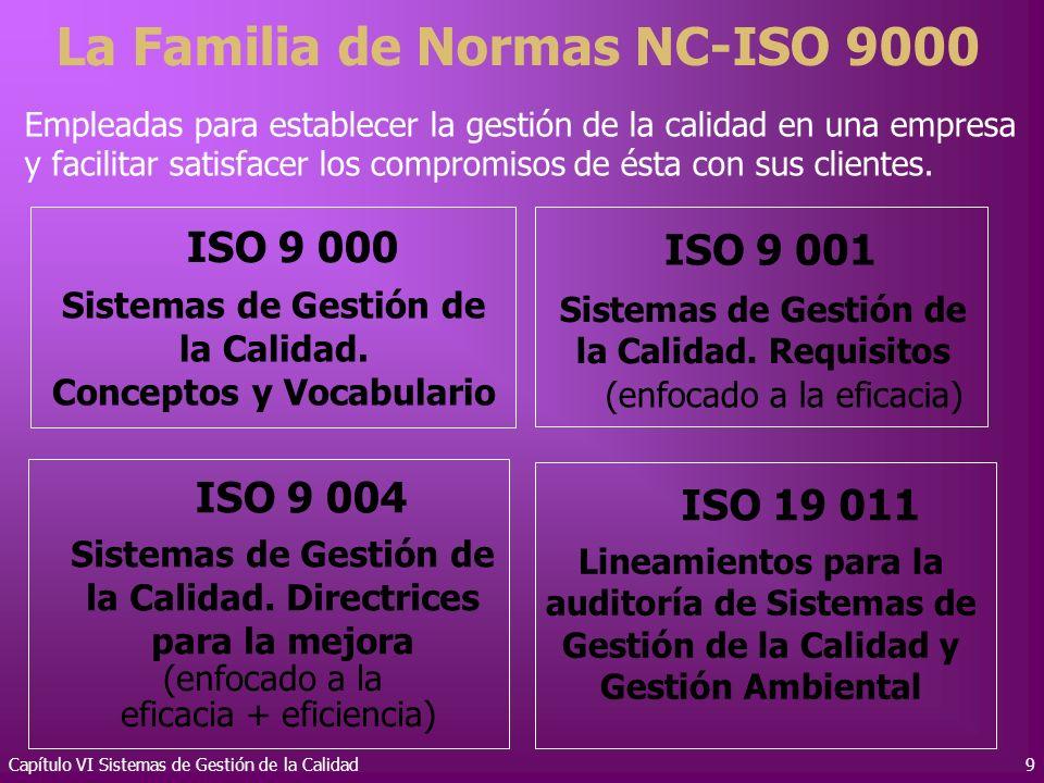 La Familia de Normas NC-ISO 9000