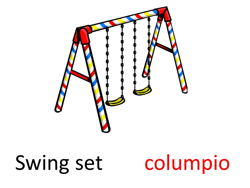 Swing set columpio