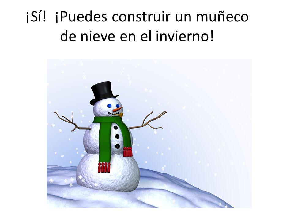 ¡Sí! ¡Puedes construir un muñeco de nieve en el invierno!