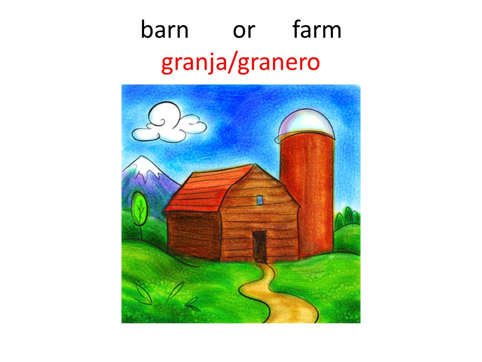 barn or farm granja/granero