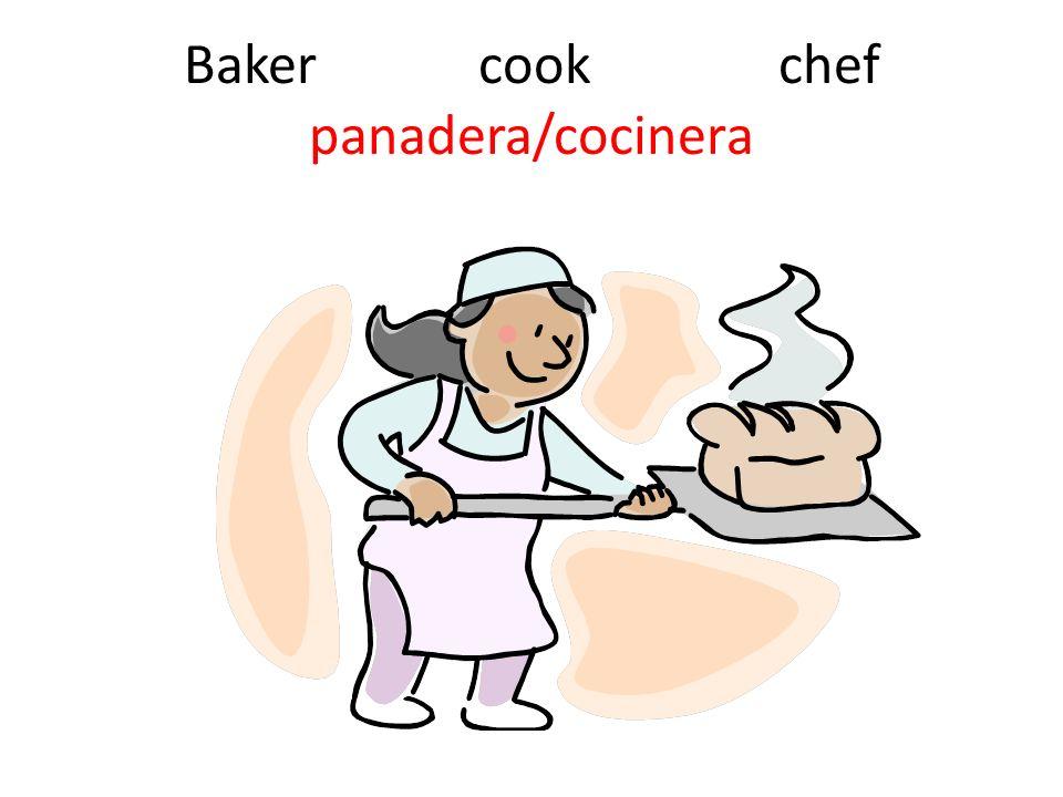 Baker cook chef panadera/cocinera