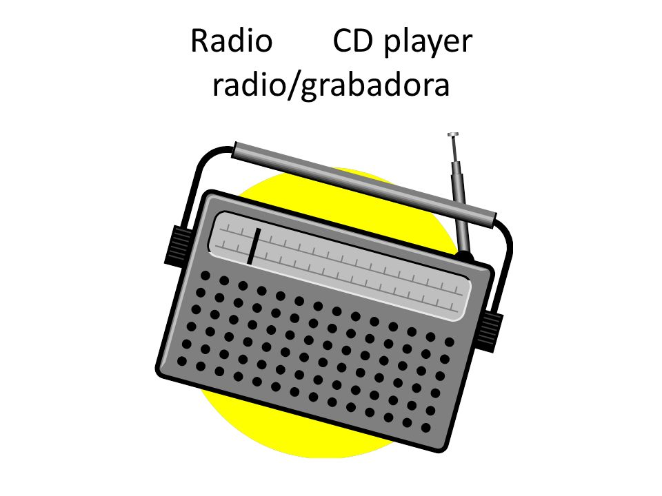 Radio CD player radio/grabadora