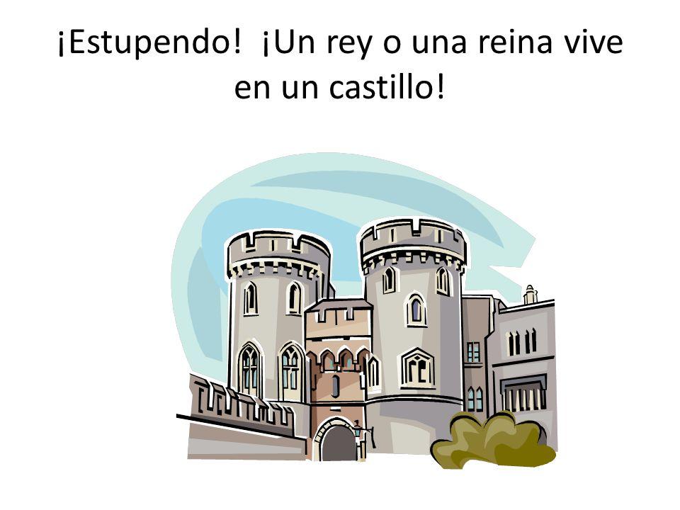 ¡Estupendo! ¡Un rey o una reina vive en un castillo!