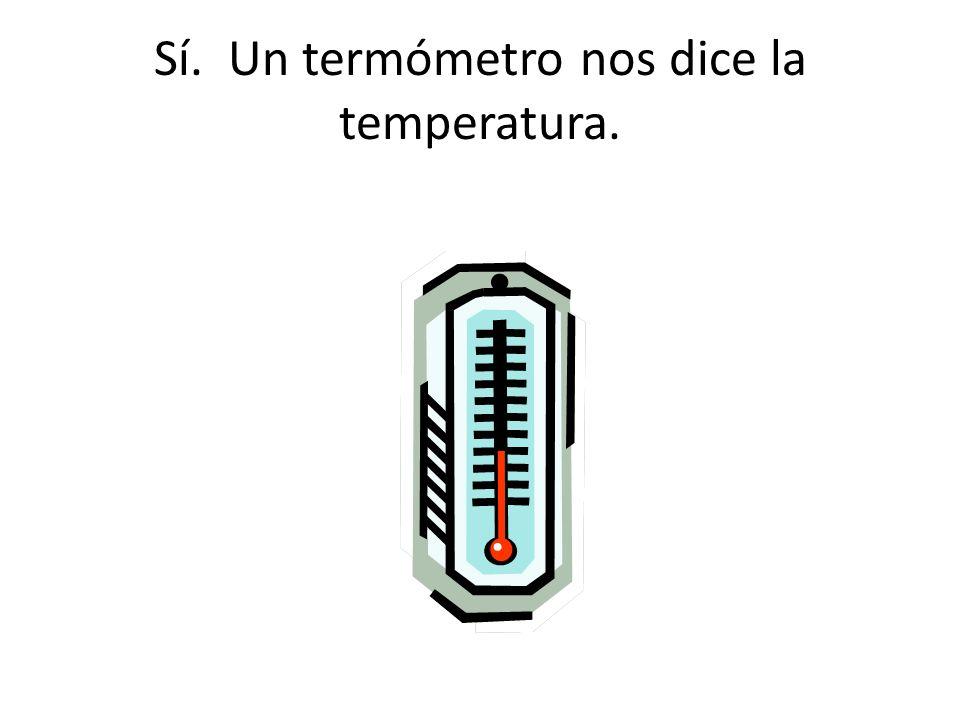Sí. Un termómetro nos dice la temperatura.