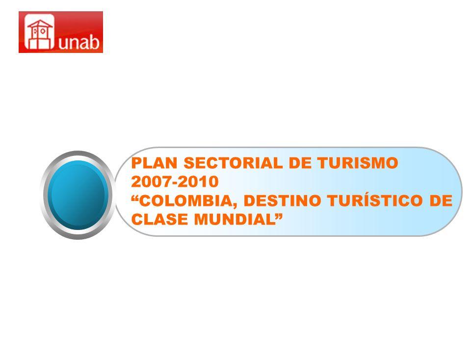 PLAN SECTORIAL DE TURISMO 2007-2010 COLOMBIA, DESTINO TURÍSTICO DE