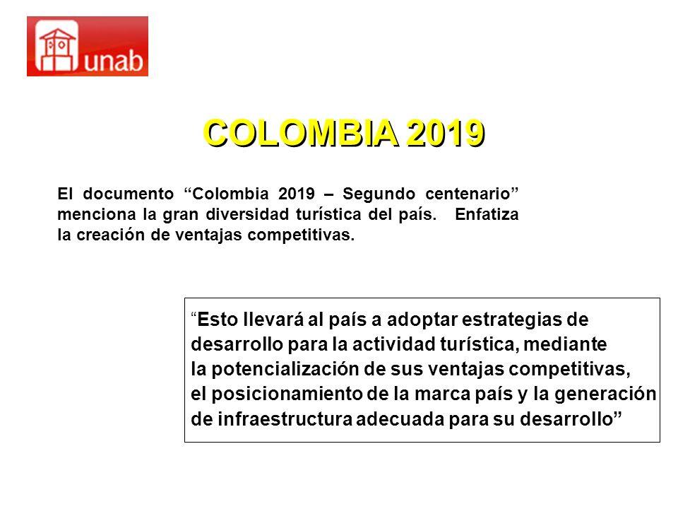 COLOMBIA 2019 Esto llevará al país a adoptar estrategias de