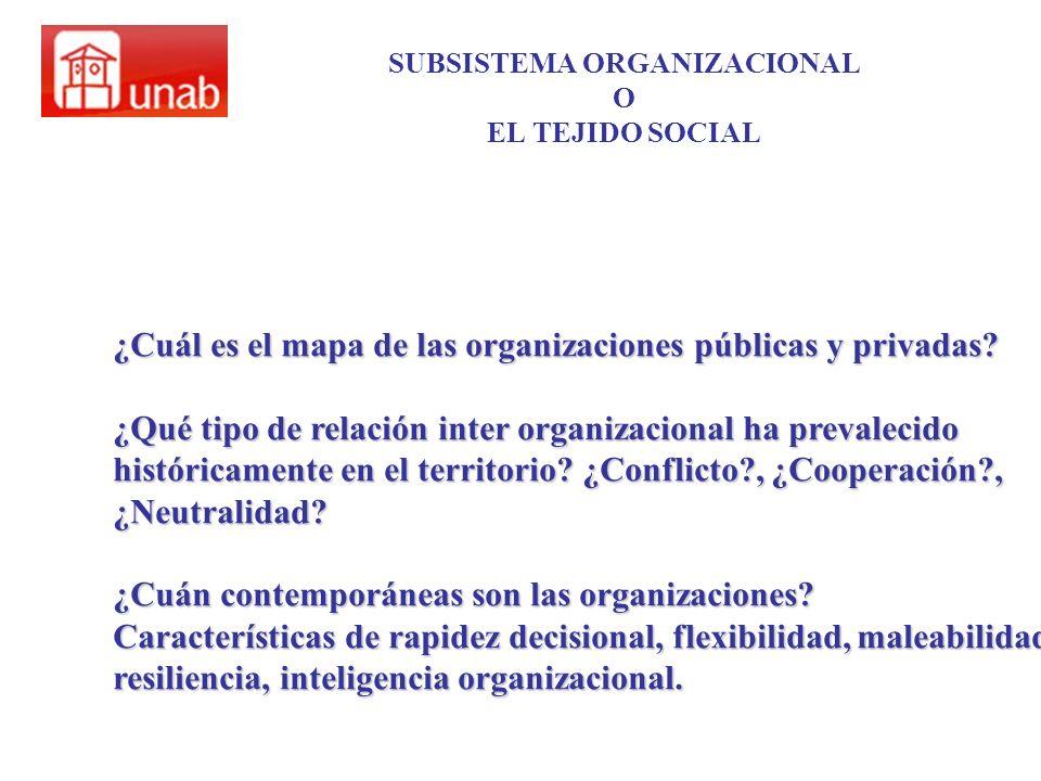 SUBSISTEMA ORGANIZACIONAL O EL TEJIDO SOCIAL