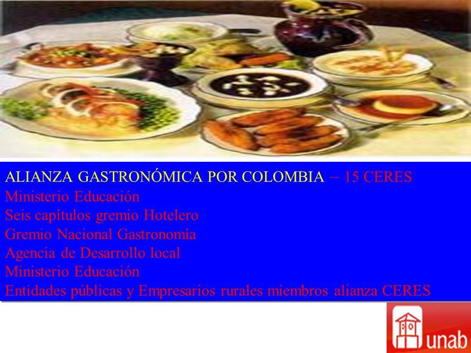 ALIANZA GASTRONÓMICA POR COLOMBIA – 15 CERES