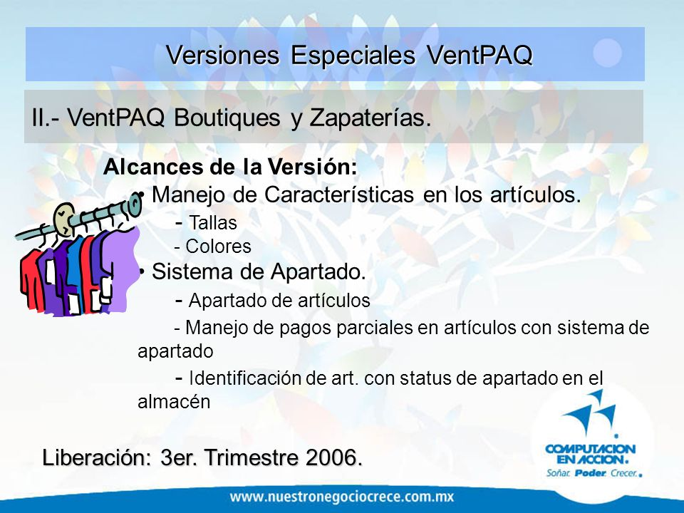 Versiones Especiales VentPAQ