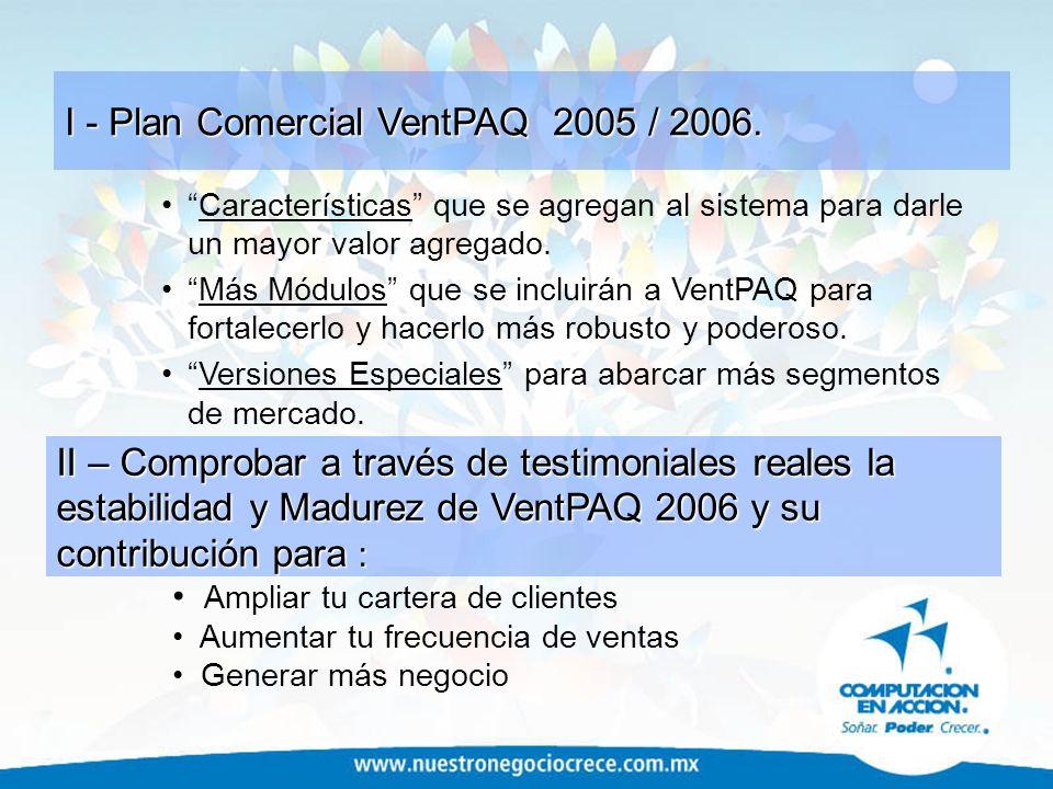 I - Plan Comercial VentPAQ 2005 / 2006.